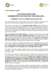 Election Chaos and Communities that Refuse to Be Bullied - Press Release _Page_1