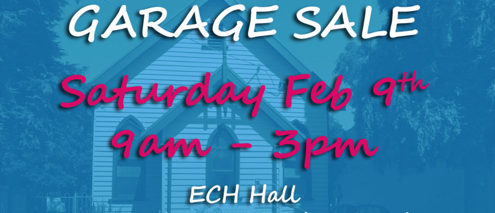 Garage Sale – Feb 9th