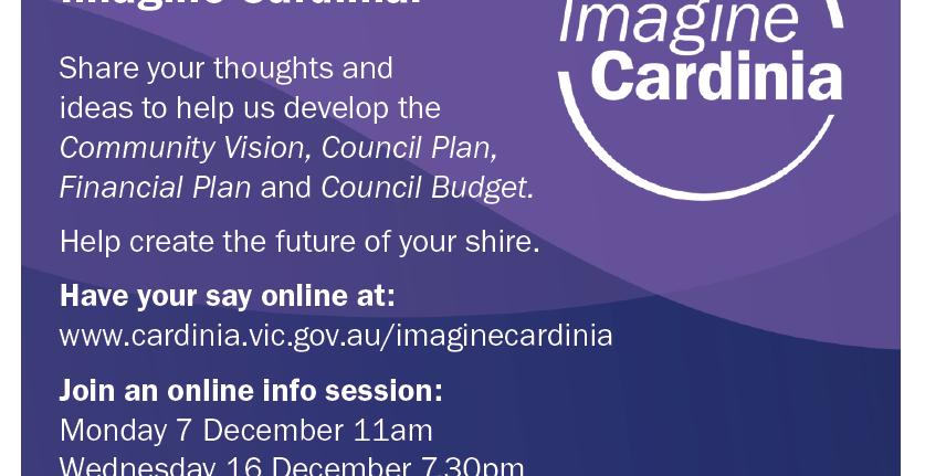 Imagine Cardinia – Community Engagement Sessions