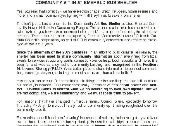 Media Release – Community Response