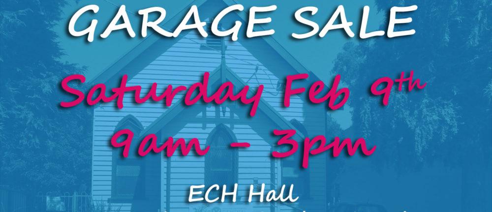 Garage Sale – Feb 9th
