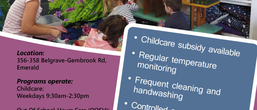 Our Occasional Childcare program restarts in Term 4 – Open to all
